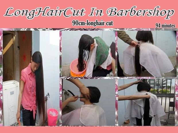 90cm-longhair cut