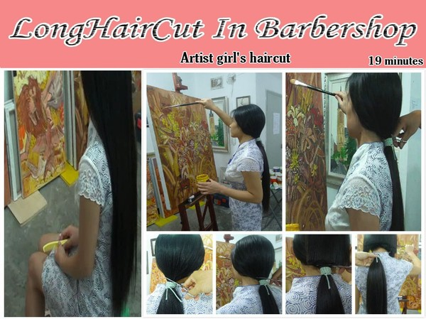 Artist girl's haircut