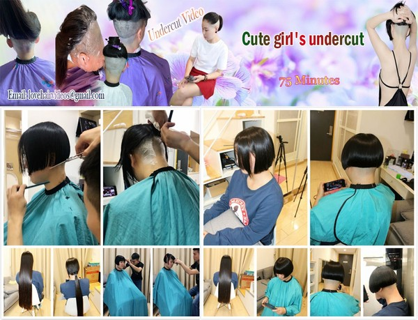 Cute girl's undercut