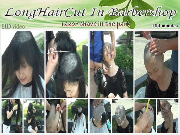 razor shaved in the park