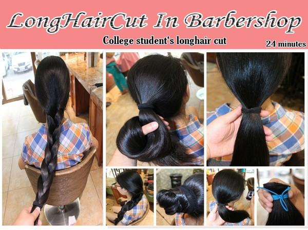 College student's longhair cut