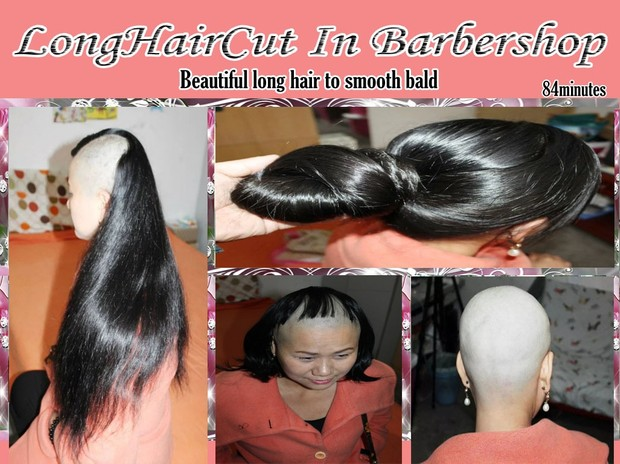 Beautiful long hair to smooth bald