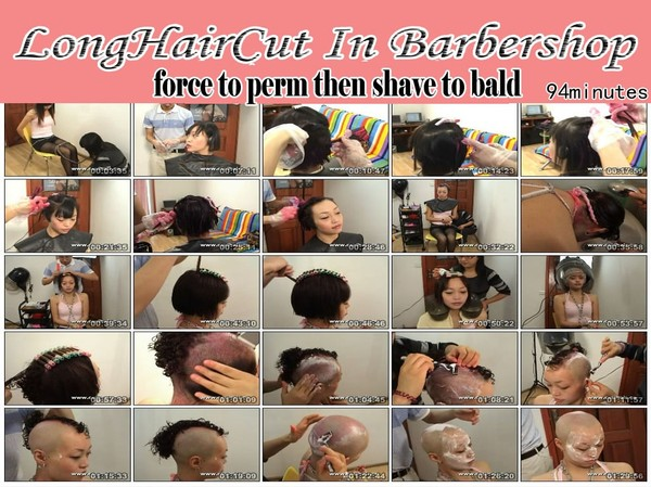 force to perm then shave to bald