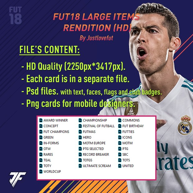 FUT18 LARGE ITEMS HD RENDITION