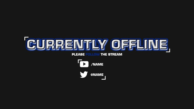 Simple Twitch Offline Screen