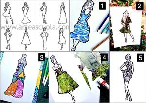 Fashion design con Texture: 8 fogli di lavoro