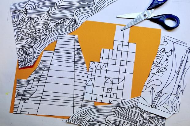 Collage Paul Klee: 5 fogli di lavoro