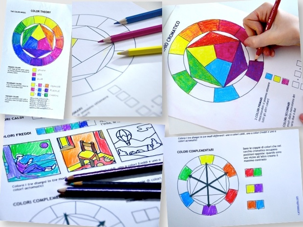 Color Wheel And Color Theory 2 Printable Worksheets
