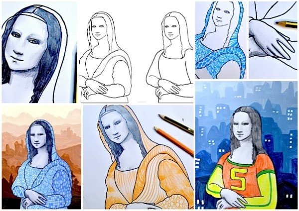 Mona Lisa: 2 worksheets