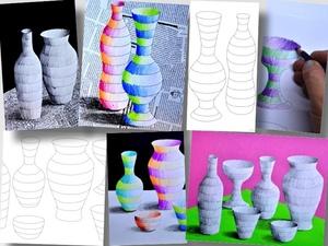 Striped bottles: 3 worksheets