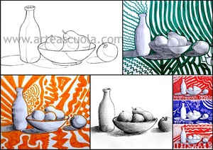 Shading a still life: worksheet