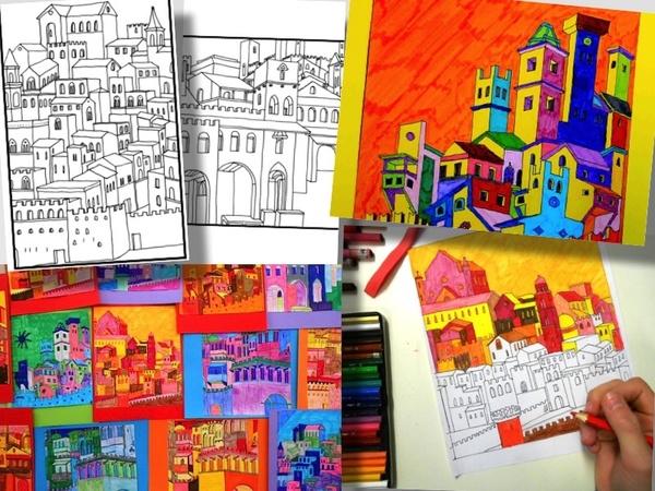 MEDIEVAL CITY: 5 printable worksheets