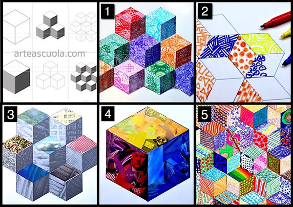 Cubes: 6 worksheets