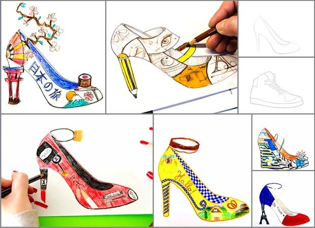 Shoe Design: 2 fogli di lavoro