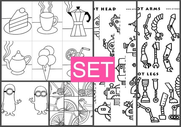 SET3 sweets - robots - bikes - minions