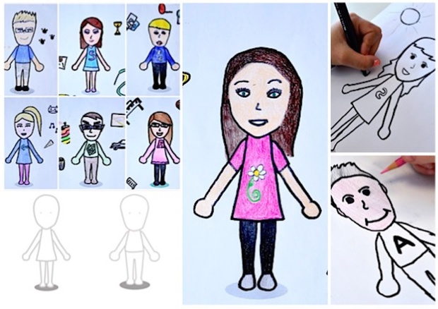 Mii like me: 2 worksheets