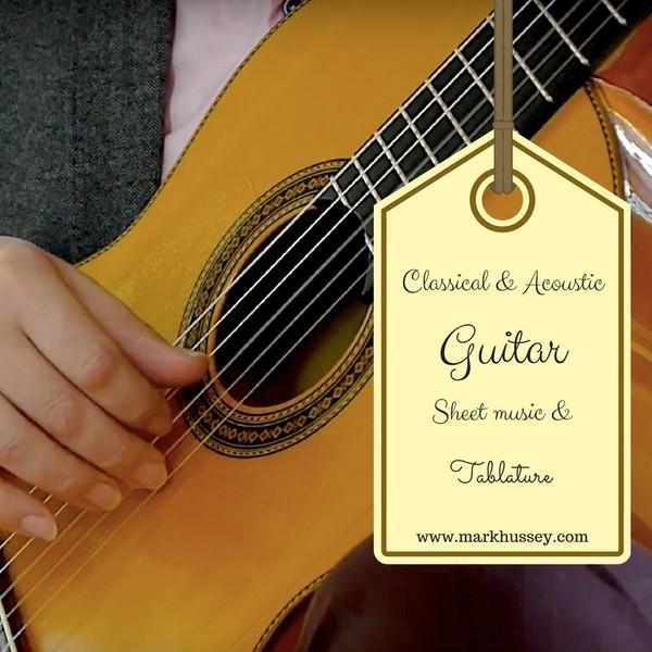 La Cumparsita -  Solo classical guitar sheet music and tablature