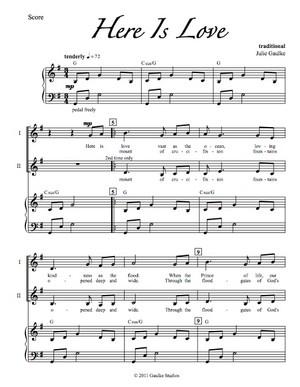 Here Is Love - original arrangement (vocal version)