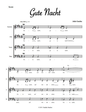 Gute Nacht - original for mixed choir a capella