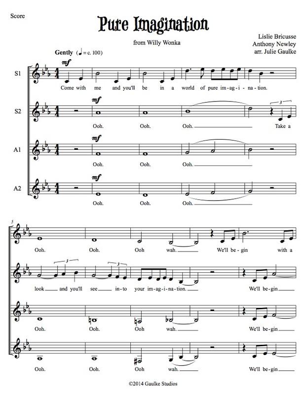Pure Imagination (Willly Wonka) original arrangement