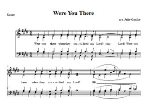 Where You There - original arrangement SATB (simple)