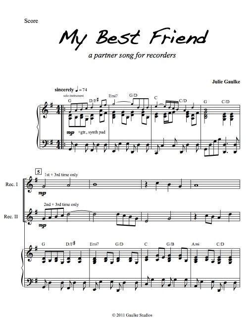 My Best Friend (Rec) with mp3 accompaniment track