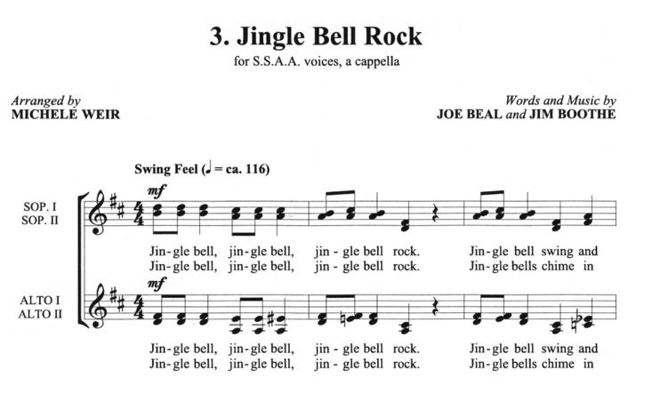 Jingle Bell Rock Sheet Music Erkalnathandedecker
