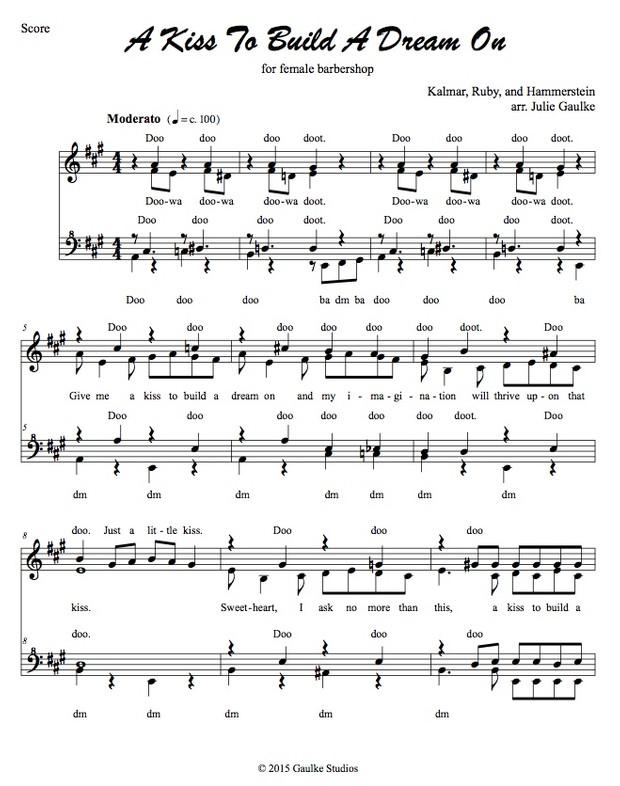 A Kiss To Build A Dream On (original arrangement) SSAA