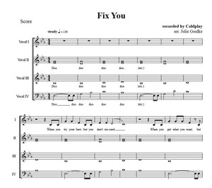 Fix You (Coldplay) original arrangement