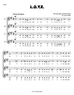 L.O.V.E. Original Arrangement SSAA a cappella
