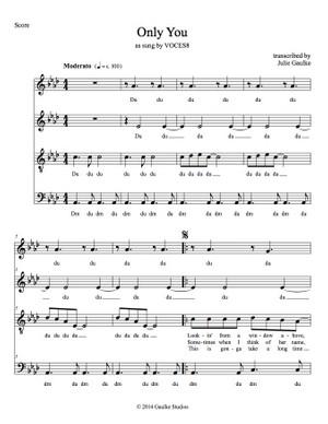Only You (VOCES8) transcription SATB
