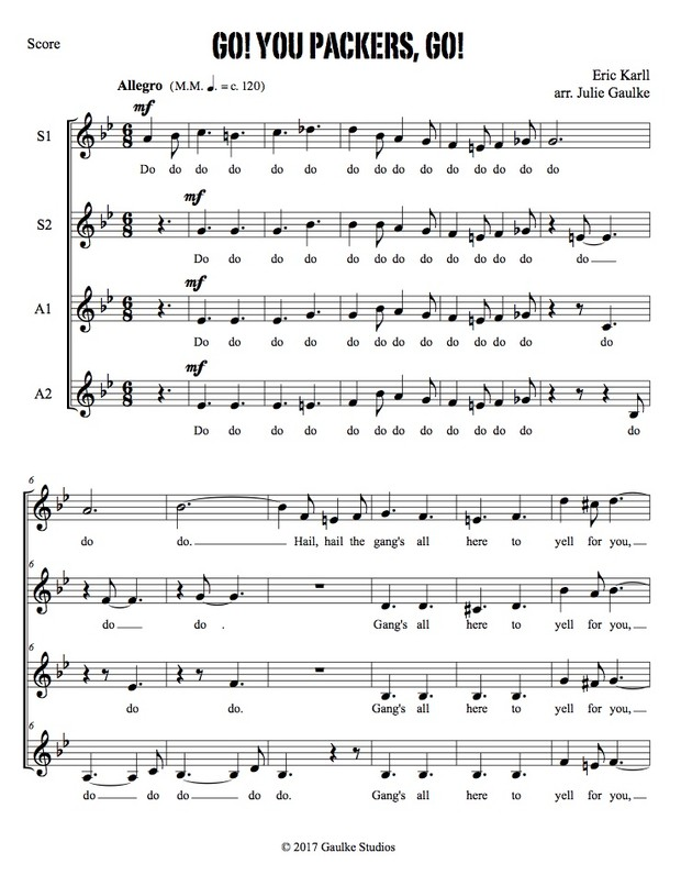 Go You Packers Go (original arrangement) Packers Fight Song SSAA