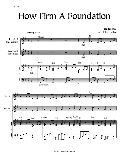 How Firm A Foundation with mp3 accompaniment track