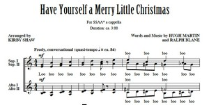 Have Yourself A Merry Little Christmas MP3 Audio Learning Tracks SSAA Kirby Shaw