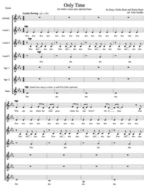 Only Time (Enya) Vocal Score