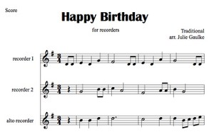 Happy Birthday (recorders)