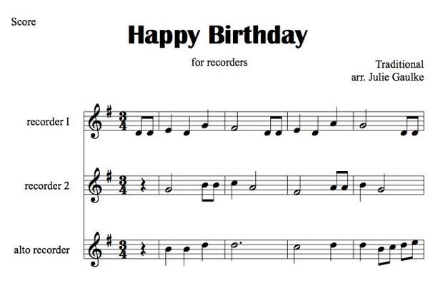 Happy Birthday (recorders)