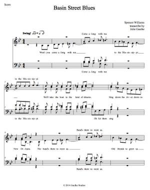 Basin Street Blues (Chordettes) transcription