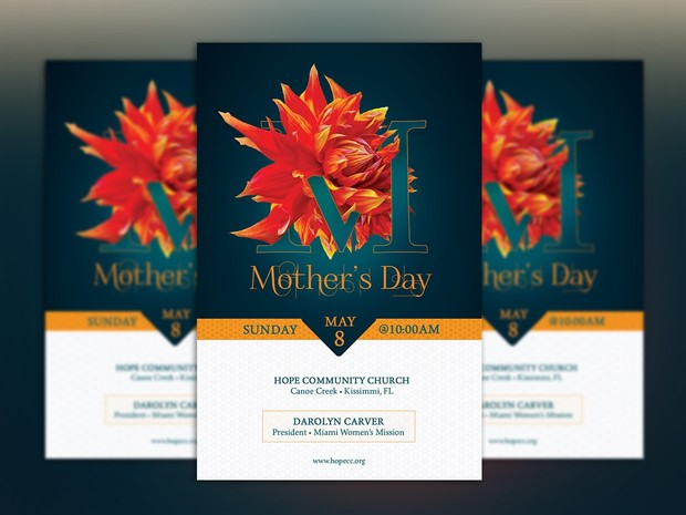 Mothers Day Flyer Photoshop Template