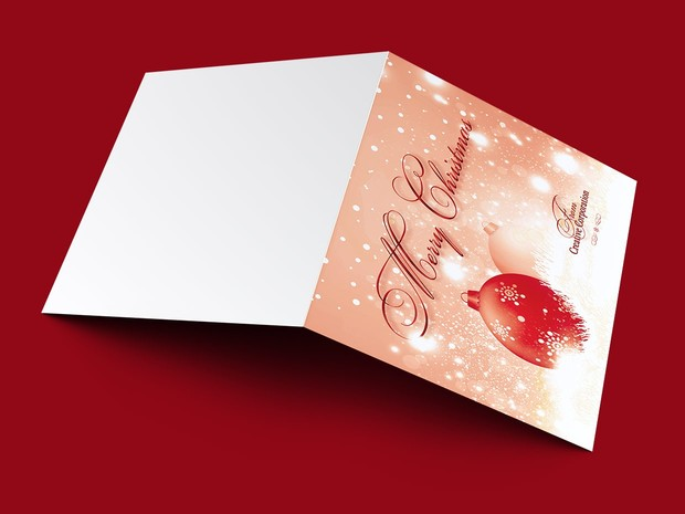 Merry Christmas Greeting Card Template V2