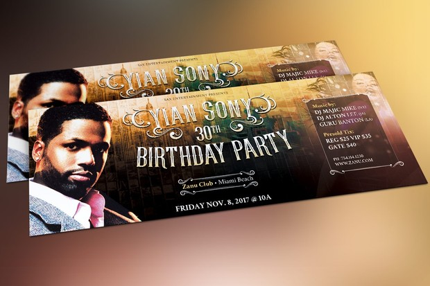 Hipster Birthday Party Flyer Template