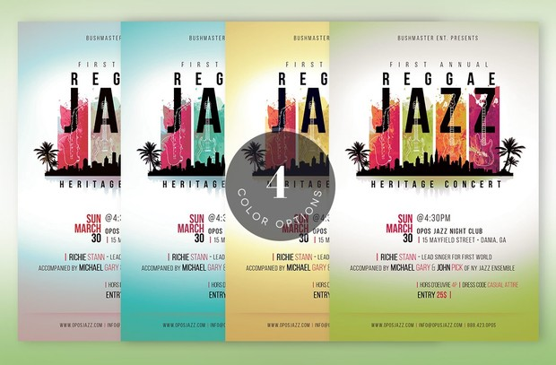 Reggae Jazz Flyer Poster Template