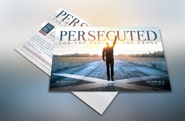 Persecuted Church Flyer Template