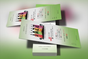 Reggae Jazz Ticket Template