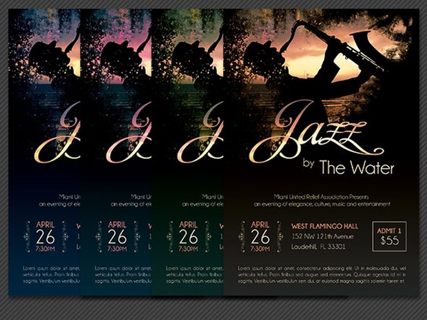 Jazz Concert Flyer Template
