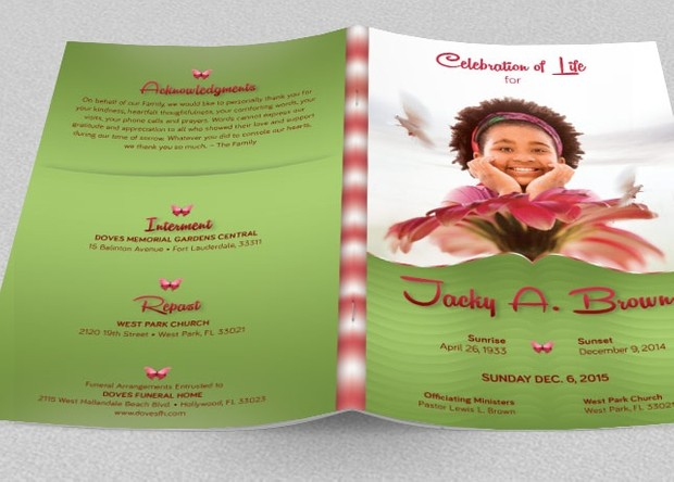 Child Funeral Program Template | Child Funeral Program Template Godserv Designs