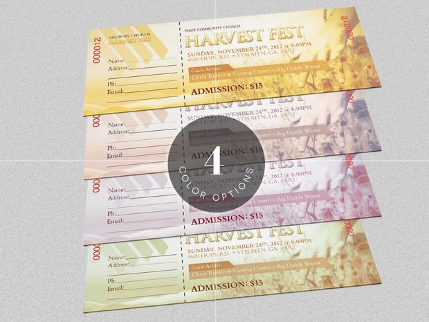 Harvest Festival Concert Ticket Template