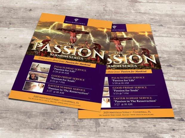 Passion Flyer and Poster - Photoshop