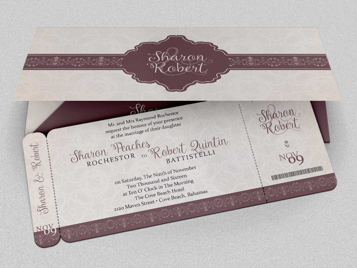 Although notsonew I like the idea of boarding pass invitations savethedates for a destination wedding This is the version from the amazing Knottie