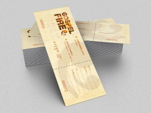 Gospel Fire Ticket Template
